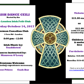 First Dance Ceili of the Season – Oct. 14, 2017